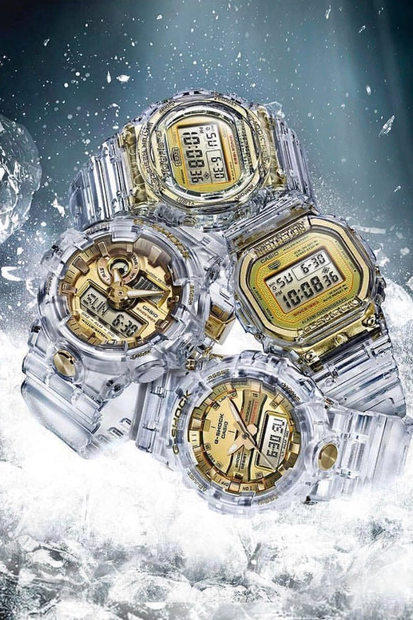 G-Shock 35th Anniversary Glacier Skeleton Gold Collector Set