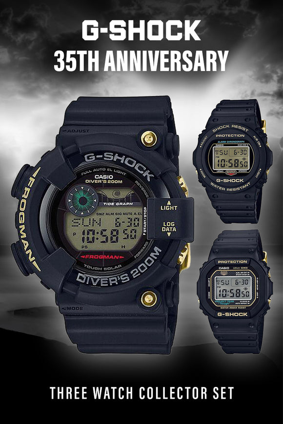 G-Shock 35th Anniversary Three Watch Collector Set