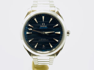 Omega Seamaster Aqua Terra 150M Co-Axial Master Chronometer Blue Dial Watch 220.10.41.21.03.001