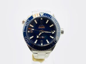 Omega Seamaster Planet Ocean Co-Axial Master Chronometer Watch 215.33.44.21.03.001 with Bracelet and Strap