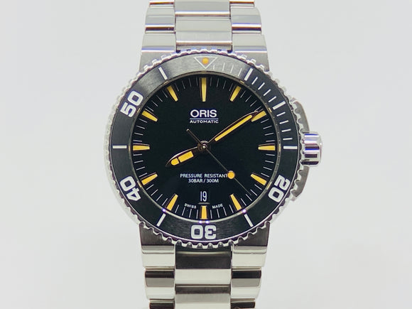 Oris Aquis Date Black Dial Dive Watch 01 733 7730 4157