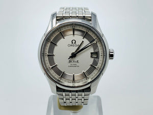 Omega De Ville Hour Vision Co-Axial White & Silver Dial Watch 431.30.41.21.02.001