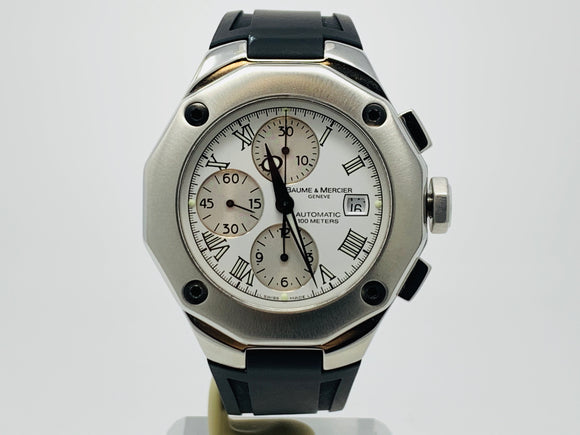 Baume & Mercier Riviera Automatic Chronograph Watch M0A08628 with Extra Strap