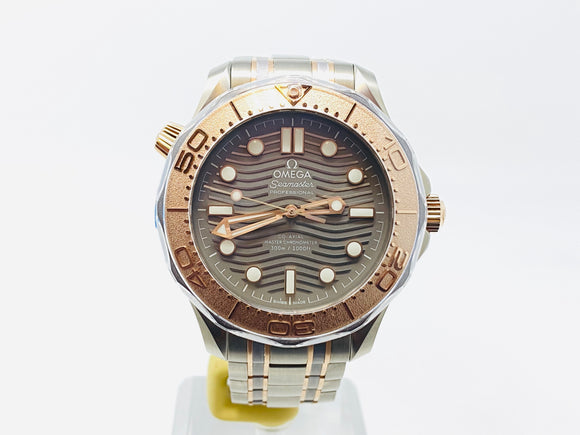 Omega Seamaster Diver Co-Axial Master Chronometer Titanium - Tantalum - Sedna Gold Limited Edition 210.60.42.20.99.001