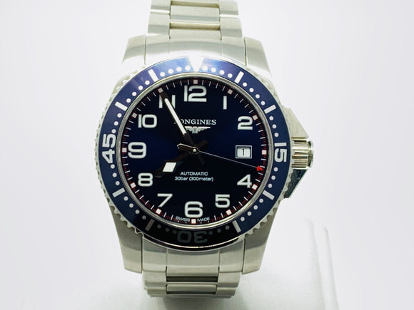 Longines Hydroconquest Stainless Steel Blue Dial Watch L3.695.4.03.6