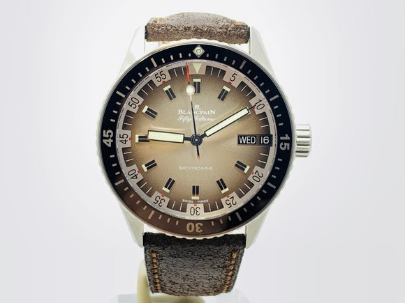 Blancpain Fifty Fathoms Bathyscaphe Day Date 70's Limited Edition Watch 5052-1110-63A