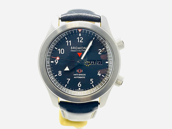 Bremont MBII Anthracite Aluminum Pilot Watch MBII-BK/AN with Extra Strap