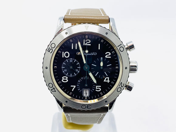 Breguet Type XX Transatlantique Flyback Chronograph Watch 3820ST/H2/9W6