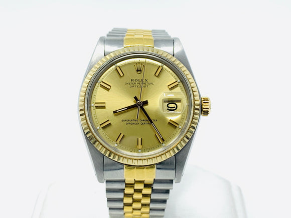Rolex Oyster Perpetual Datejust Two-Tone Sigma Dial Automatic Watch 1601