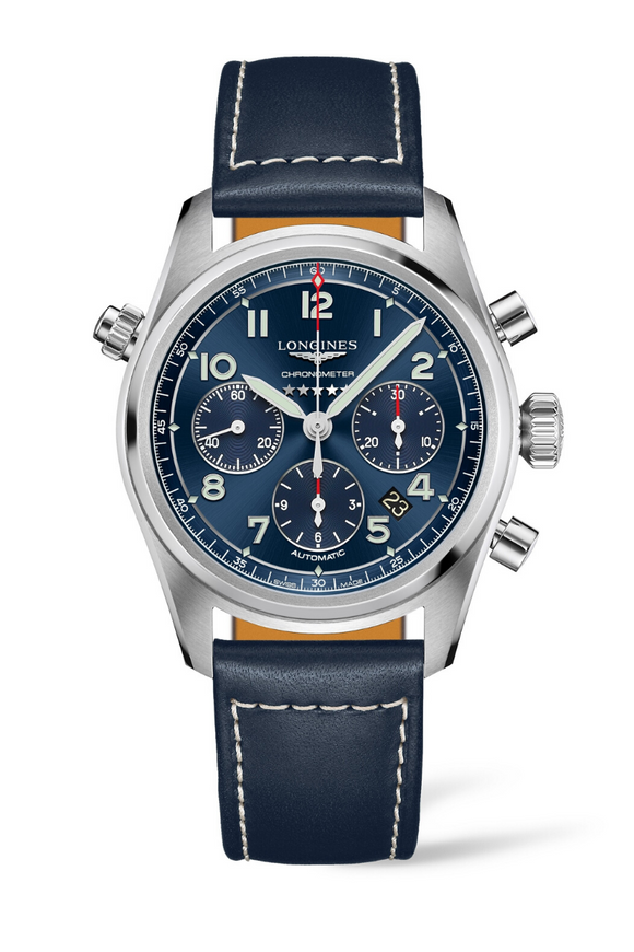 Longines Spirit 42mm Automatic Chronometer Chronograph L3.820.4.93.0