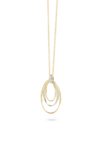 "Marco Bicego Marrakech Onde 18K Yellow Gold and Diamond Hand Twisted 16.5"" Necklace CG815-B-YW"