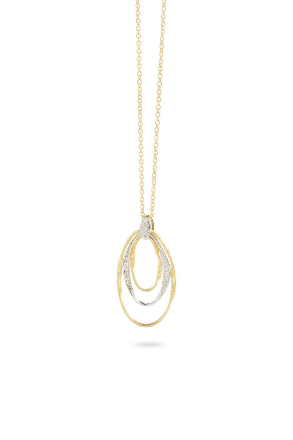 Marco Bicego Marrakech Onde 18K Yellow Gold and Diamond Hand Twisted 16.5