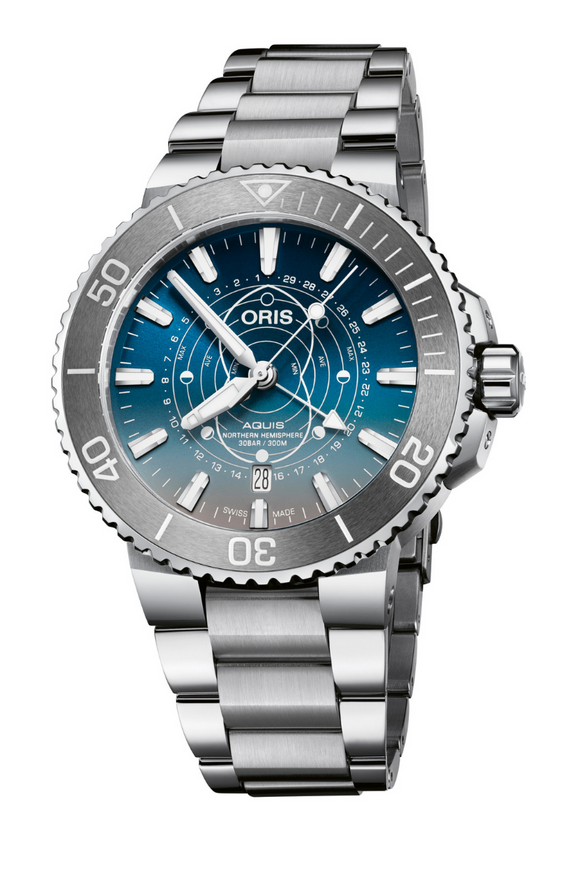 Oris Aquis Dat Watt Limited Edition Stainless Steel 01 761 7765 4185-Set (Deposit)