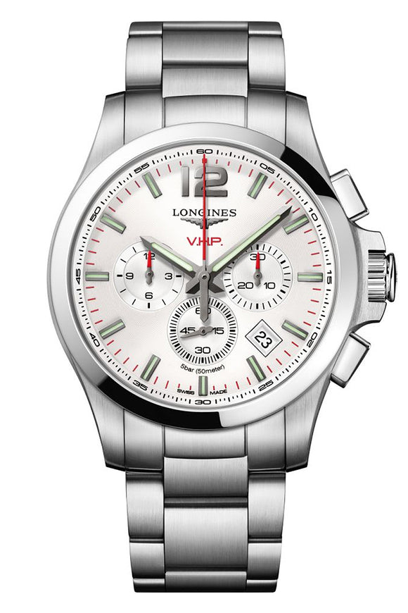 Longines Conquest V.H.P. Chronograph Silver Stainless Steel (Deposit)