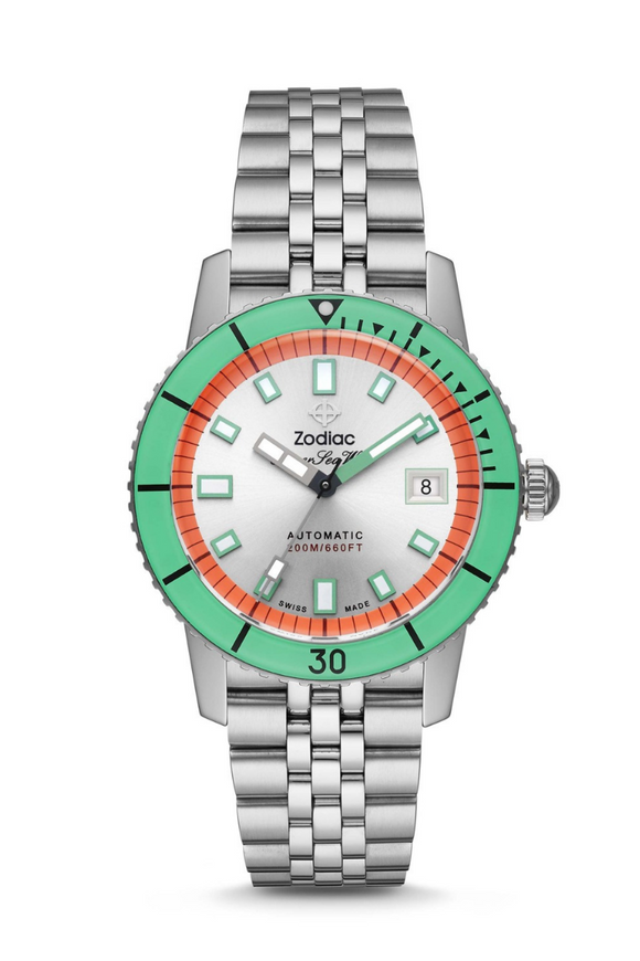 Zodiac Super Sea Wolf 'Watermelon' Dive Watch ZO9269
