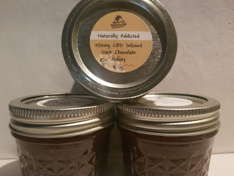 CBD Dark Chocolate Honey - Raw Alfalfa Honey infused with Dark Chocolate and CBD
