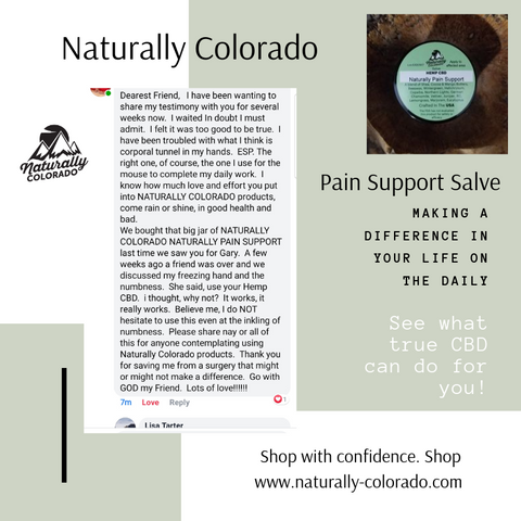 Naturally Pain Support, Deep Pain Relief - CBD Pain Salve