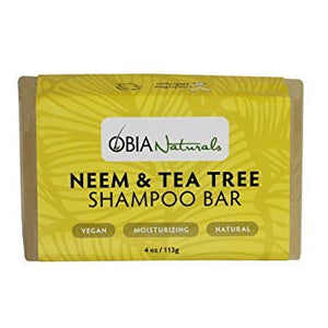 OBIA Naturals Neem Tea Tree Shampoo Bar 4oz