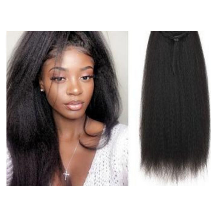 Synthetic Drawstring Ponytail  | Kinky Straight