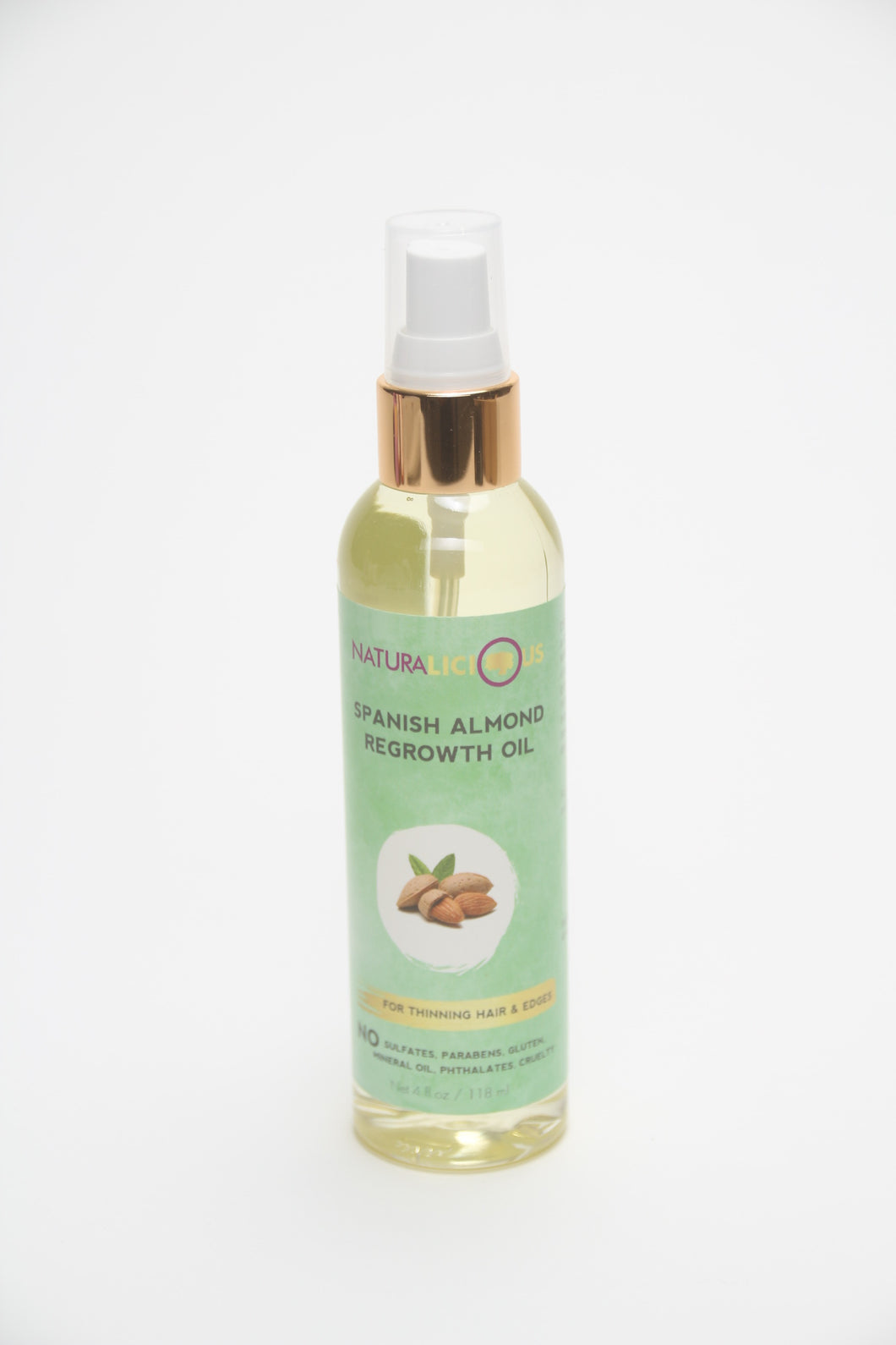 Naturalicious Spanish Almond Regrowth Oil Don't Break the Comb