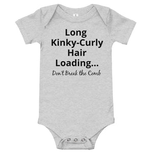 Long Kinky-Curly Hair Loading Baby One-Piece Bodysuit
