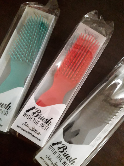 FELICIA LEATHEWOOD Teal Detangler Brush