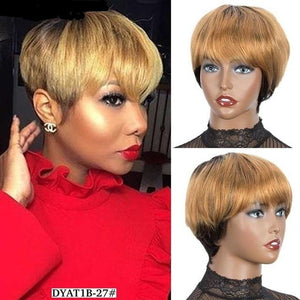 Straight Pixie Cut Wig | Peruvian