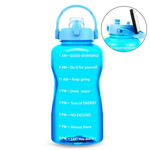Water Bottle with Smartphone Holder Handle | 64 oz & 128oz
