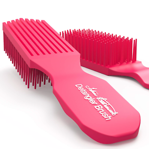 FELICIA LEATHERWOOD Pink Detangler Brush