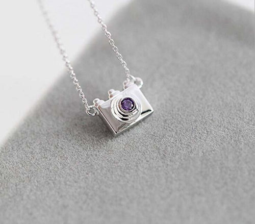 Sterling Silver Camera Necklace
