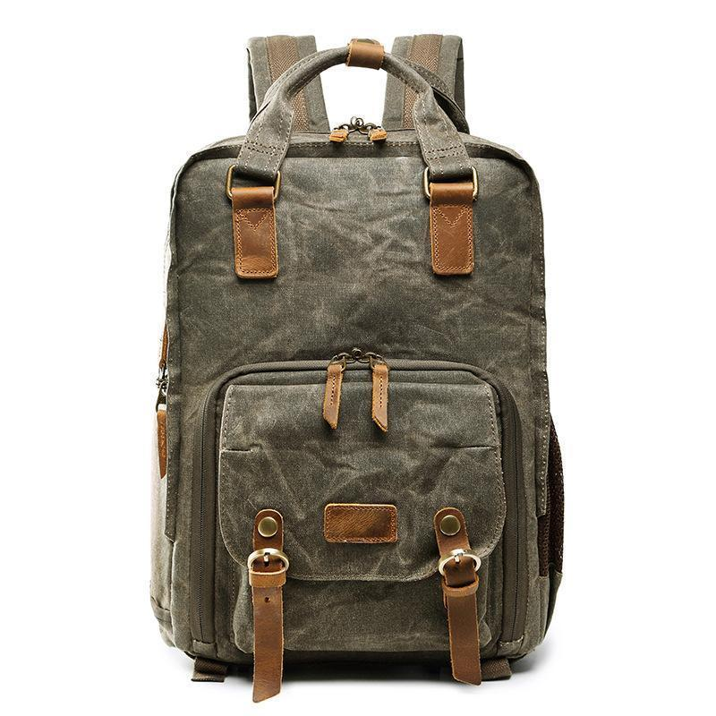 Premium Vintage DSLR Camera Backpack