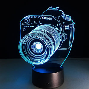 3D DSLR LED Lamp
