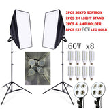 Photo Studio Softbox Video Lighting Kit