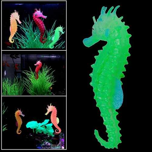 Luminous Artificial Simulated Hippocampus Environmentally Friendly Material Aquarium Fish Tank Decor
