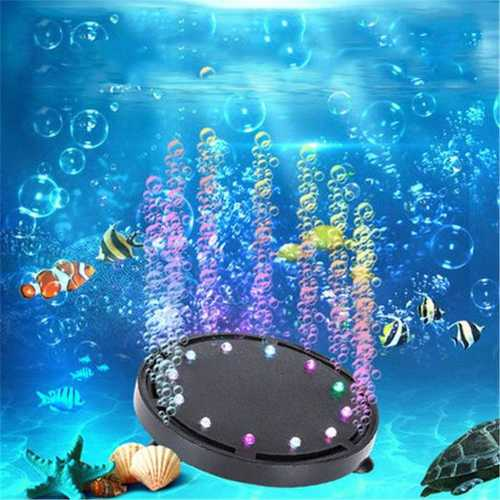 Aquarium Light Decorations LED Underwater Lights Create Colorful Bubbles for Fish Tank