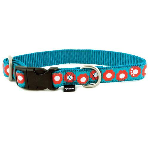 PetSafe Fido Finery Martingale Style Collar (3/4 Small, Teal My Heart)