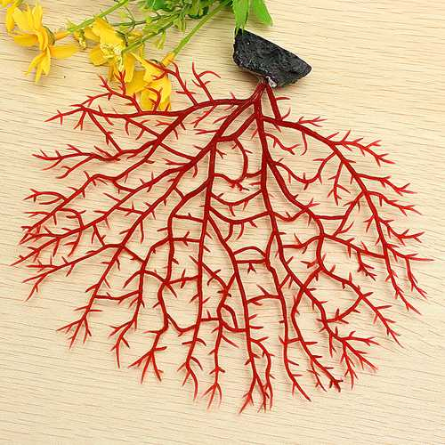 Soft Fish Aquarium Decoration Red Anemone Coral Artificial Aquatic