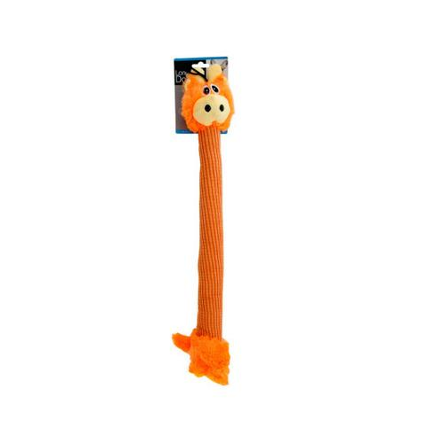 Long Body Giraffe Plush Dog Toy ( Case of 1 )