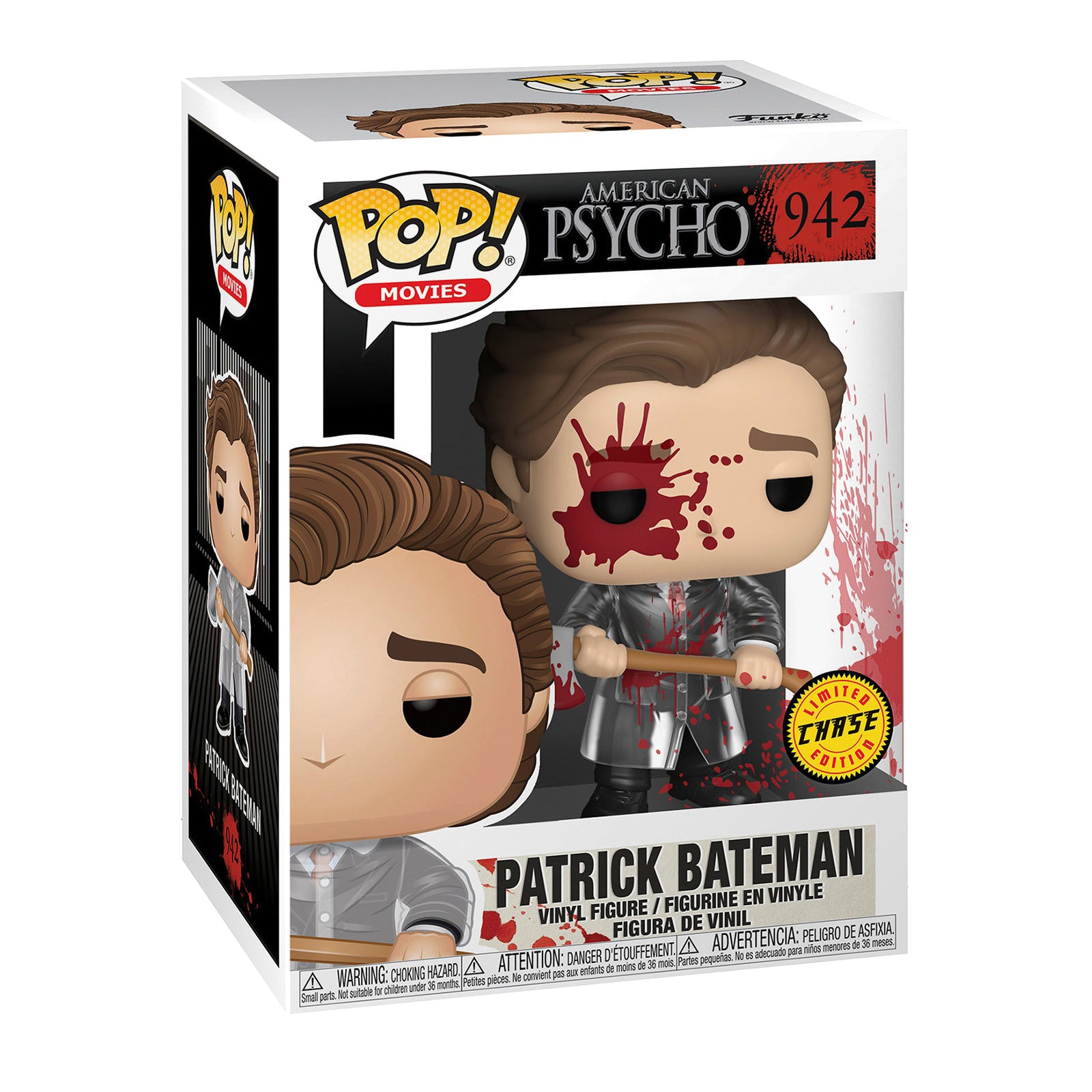 American Psycho Patrick Bateman with Axe Chase Bundle (2 Figures)