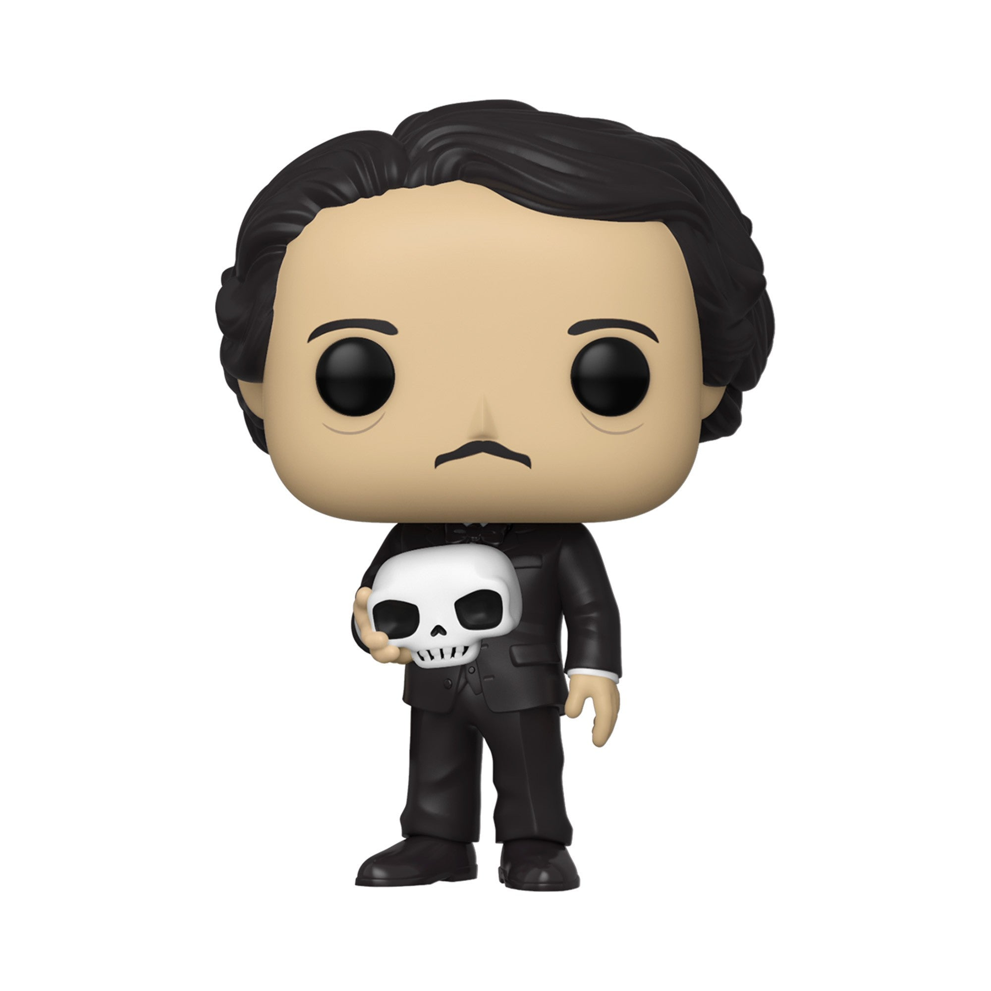 Edgar Allan Poe with Skull