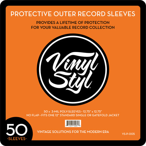 Protective Outer Record Sleeve 50-Pack