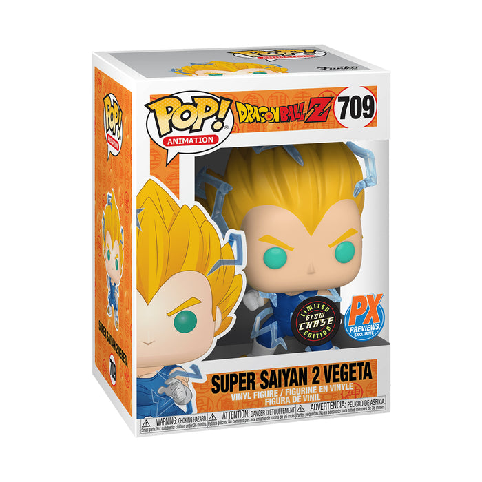 Dragon Ball Z Super Saiyan 2 Vegeta Glow In The Dark Chase Previews Exclusive Bundle [2 Figures] (February Preorder)
