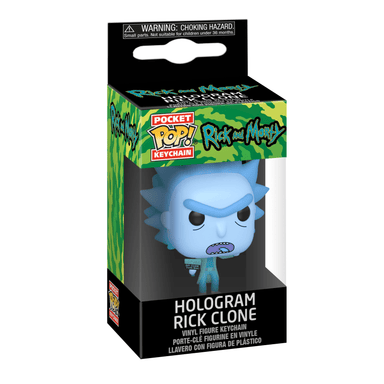 Rick and Morty Hologram Rick Clone Pocket Pop Keychain