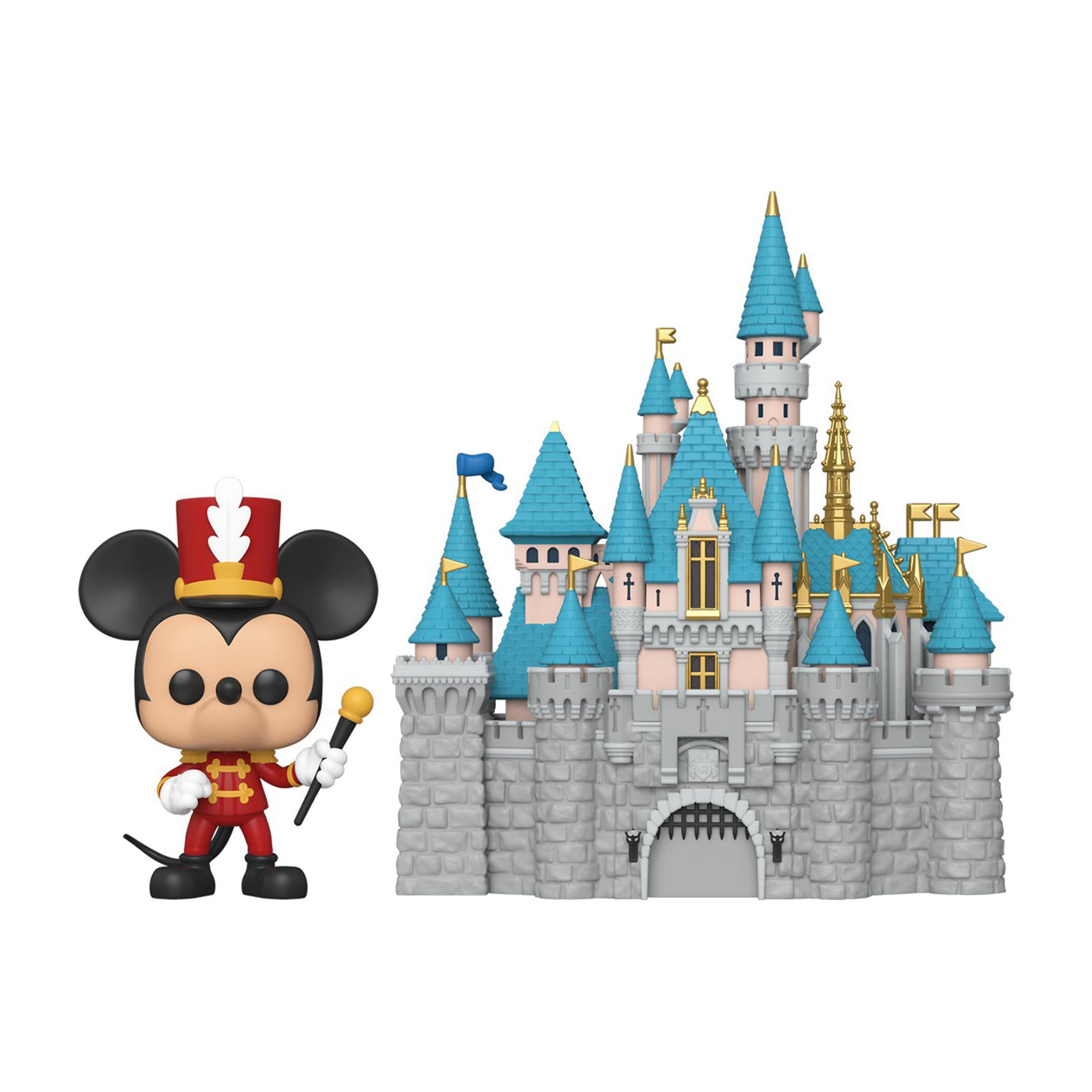 Disneyland 65th Anniversary Castle with Mickey Pop Town
