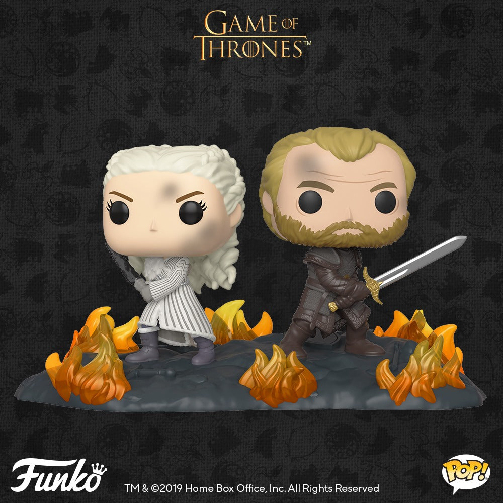 Game of Thrones Daenerys and Jorah with Swords Movie Moment