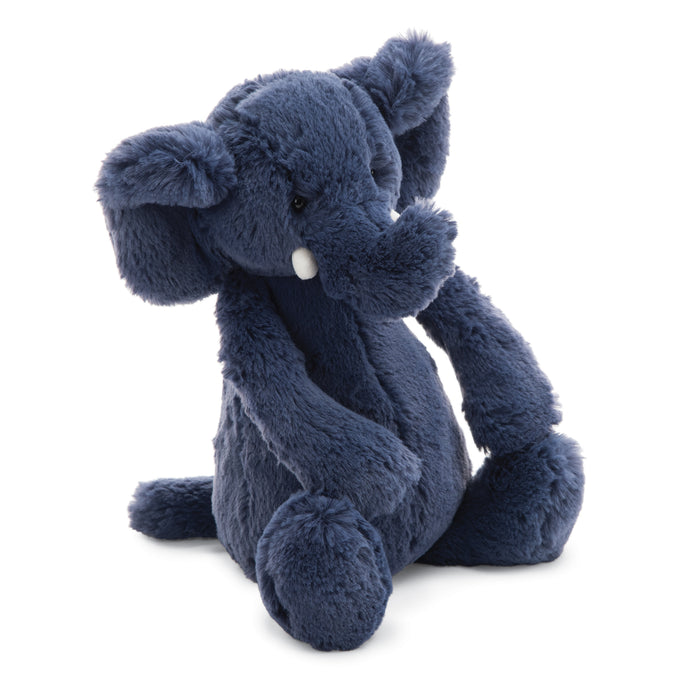 Bashful Blue Elephant Stuffed Animal