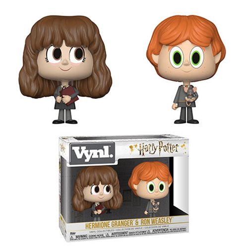 Harry Potter Ron and Hermione Vynl Figure 2-Pack