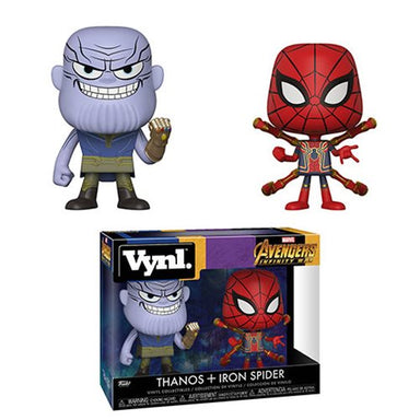 Avengers Infinity War Thanos and Iron Spider Vynl Figure 2-Pack