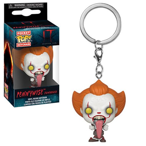 It Chapter 2 Pennywise Funhouse Tongue Pocket Pop Keychain