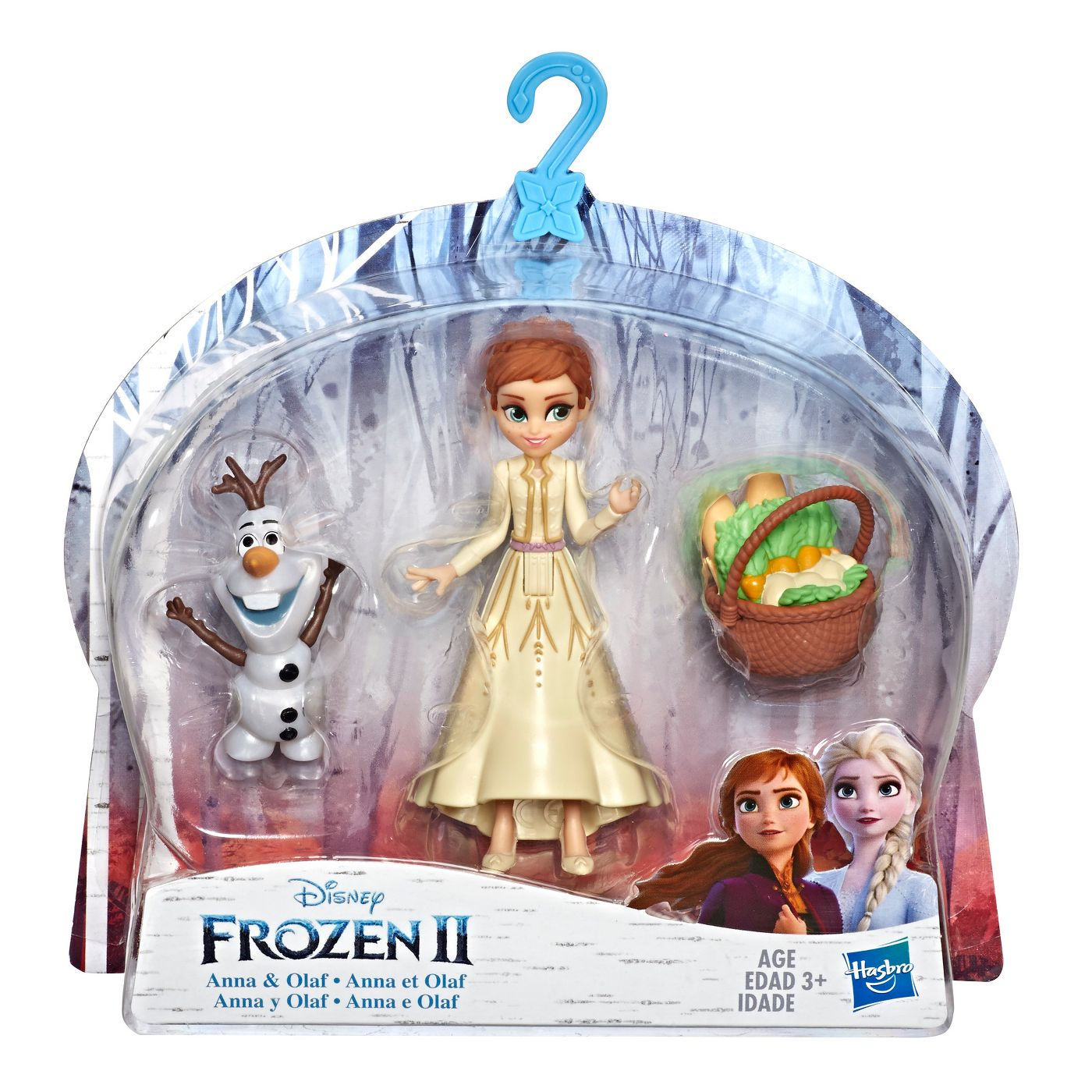 Disney Frozen Anna and Olaf Small Dolls With Basket Accessory